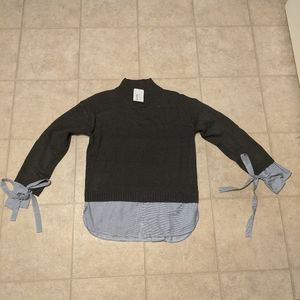 NWT Turtleneck Sweater with Tie Sleeves